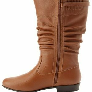 Monica Wide Calf Leather Boots By Comfortview 7.5W